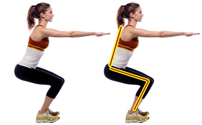 Squats for glutes, basic exercises.