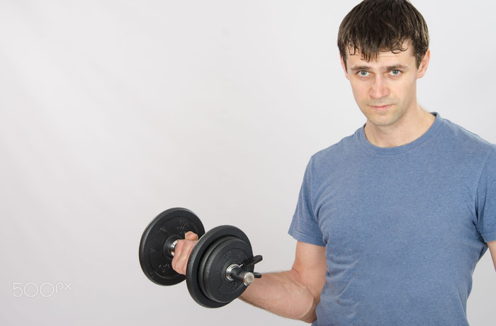 A set of exercises to lose weight at home every day for men.