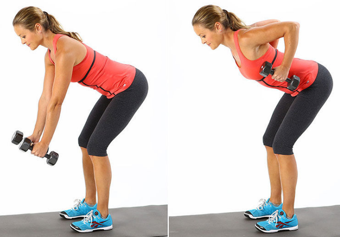 Exercises with dumbbells and other weights.