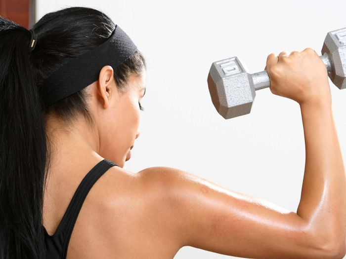 Dumbbell exercises at home for everyone.