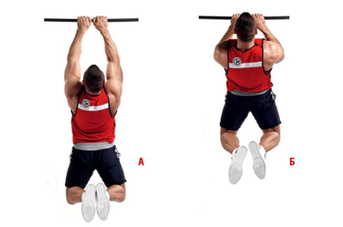 Pull-ups on the horizontal bar: specificity and exercises.