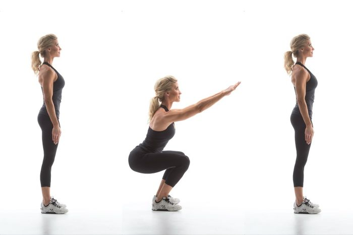 What muscles work when squatting: especially strengthen the legs, buttocks