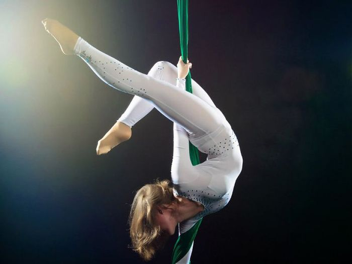 Aerial gymnastics: useful training in the canvas and the ring.